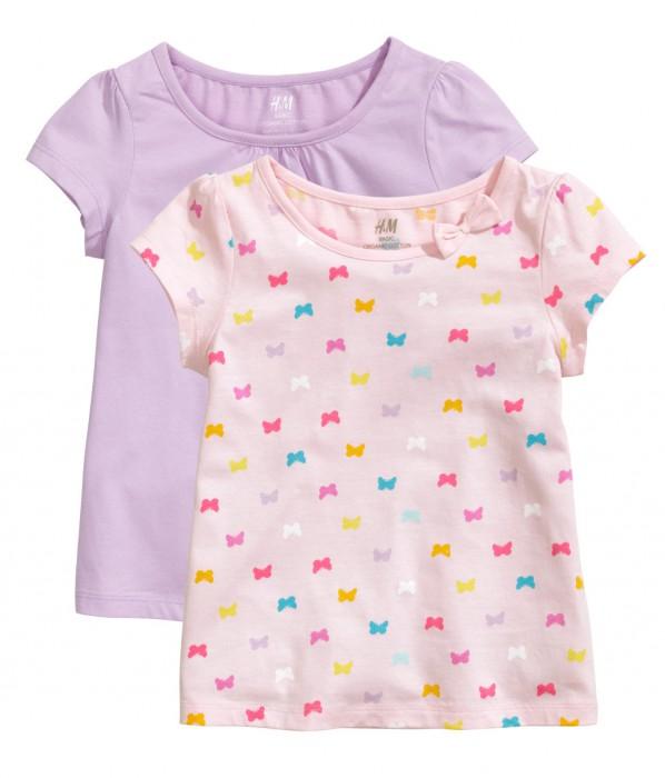 H&M 2pak koszulek