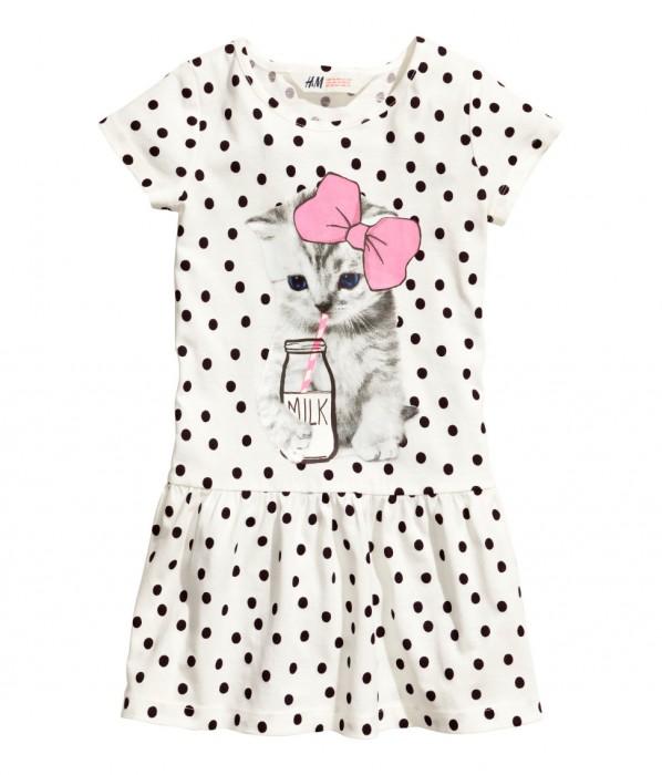 H&M sukienka zkotem