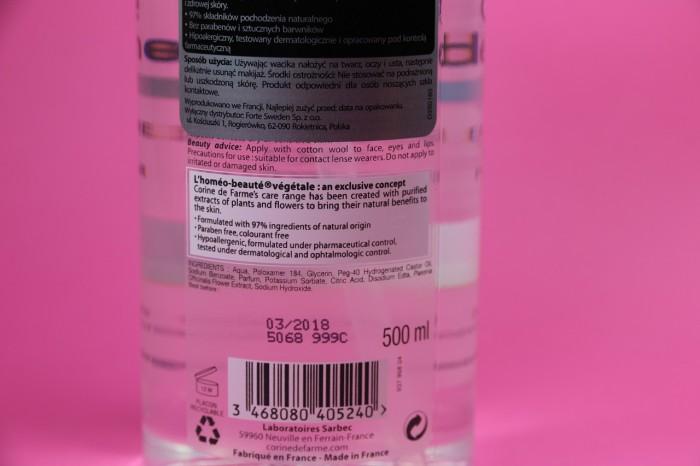 Corine de Farme: płyn micelarny dla skóry suchej iwrażliwej, skład