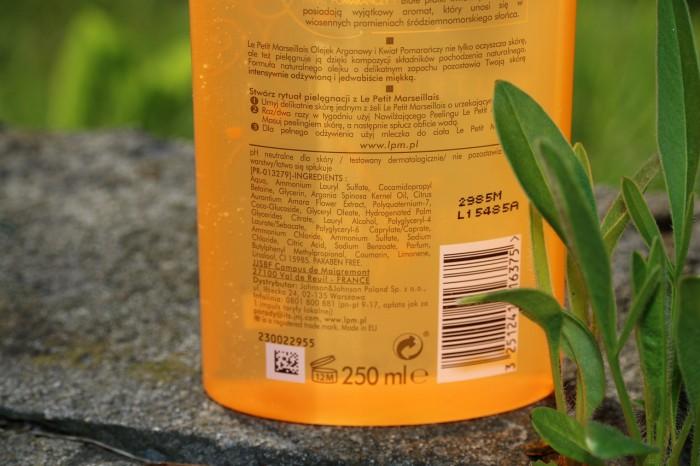 Le Petit Marseillais: pielęgnujący olejek domycia - olejek arganowy ikwiat pomarańczy, skład