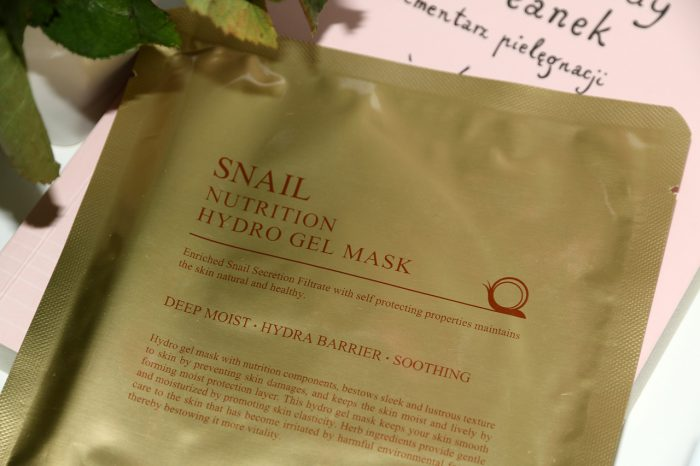 maska wpłacie Skin79 Snail Nutrition Hydro Gel Mask