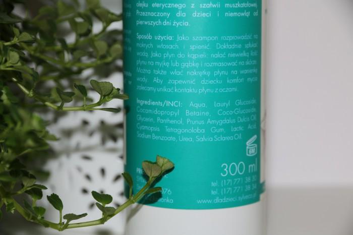 Sylveco: kremowy szampon ipłyn dokąpieli dla dzieci, skład