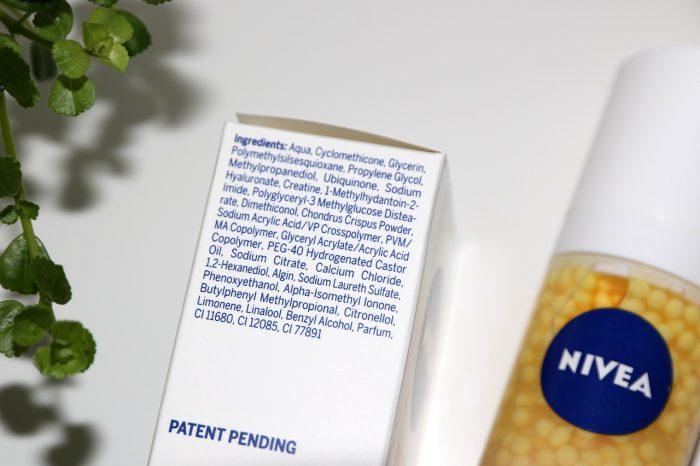 Nivea Q10 plus: serum perły młodości, skład