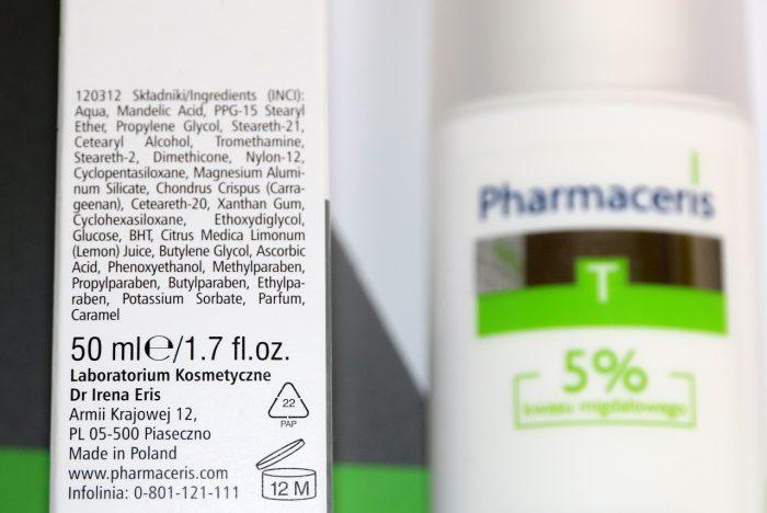 Pharmaceris krem z5% kwasem migdałowym nanoc skład