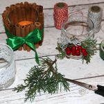 DIY: proste iurokliwe świąteczne świeczniki