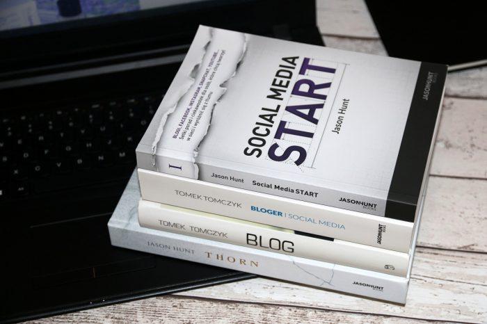 """Tomek Tomczyk vel Jason Hunt """"Blog. Pisz, kreuj, zarabiaj"""", """"Bloger isocial media"""", """"Social Media: Start"""", """"Thorn"""""""