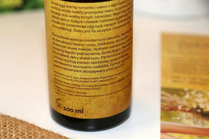 Rumiankowa esencja micelarna Polny Warkocz skład