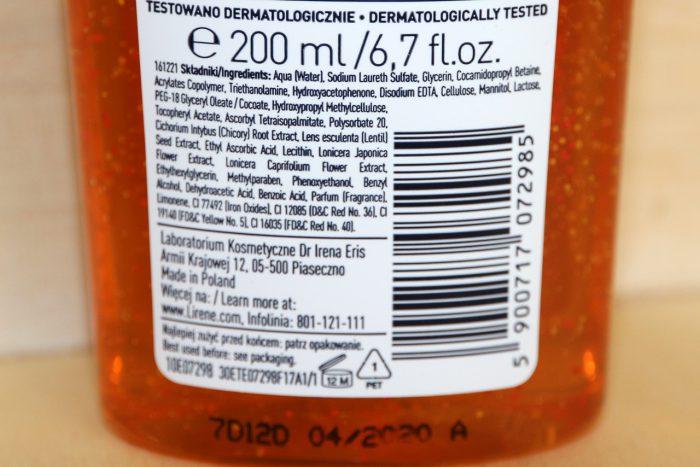 Lirene C+Dpro Vitamin Energy żel myjąco-energetyzujący skład