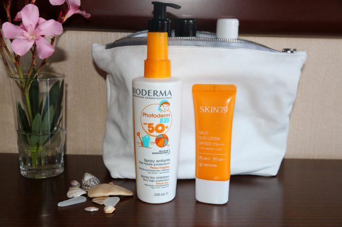 wakacyjna kosmetyczka - ochrona przeciwsłoneczna