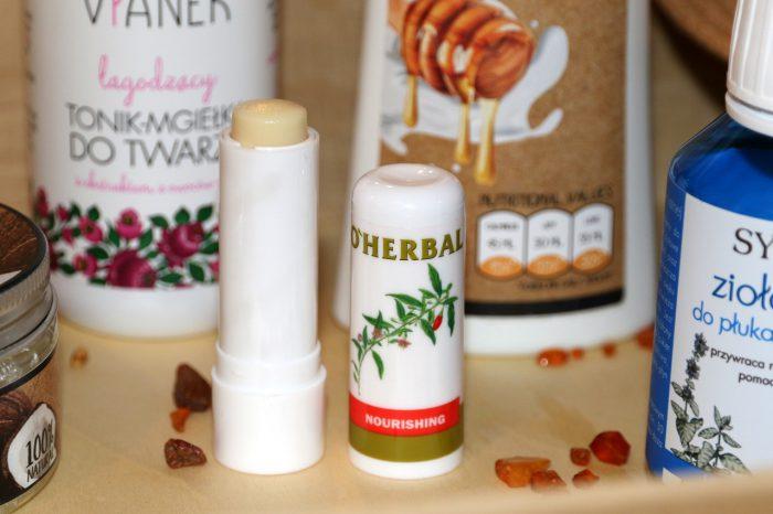 O'Herbal - odżywcza bezbarwna pomadka doust zekstraktem goji