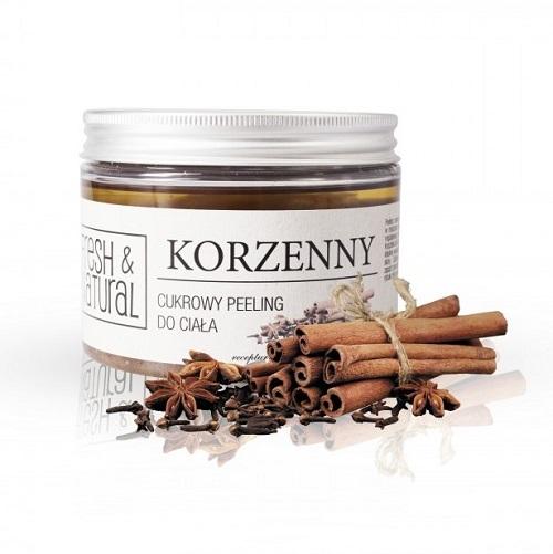 Fresh&Natural - cukrowy peeling dociała Korzenny