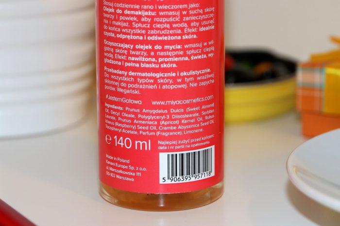 olejek dodemakijażu MIYA skład