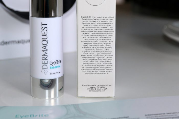 DermaQuest EyeBrite skład