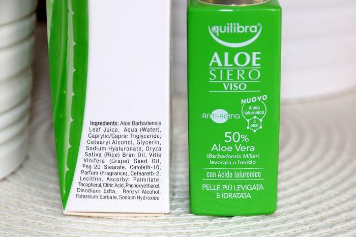 aloesowe serum dotwarzy Equilibra skład