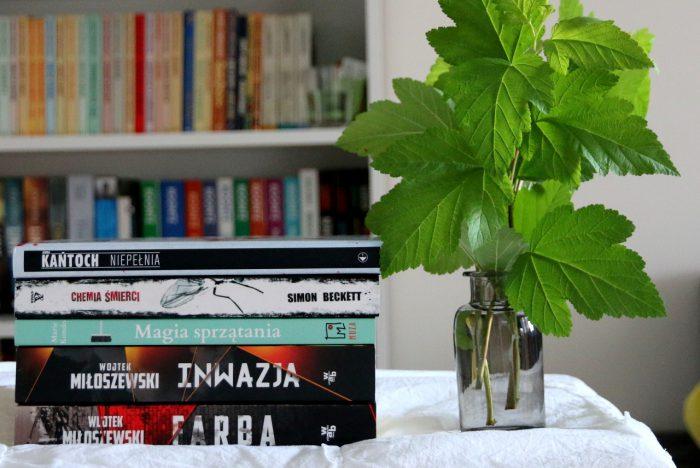 stosik książek przeczytanych wmaju