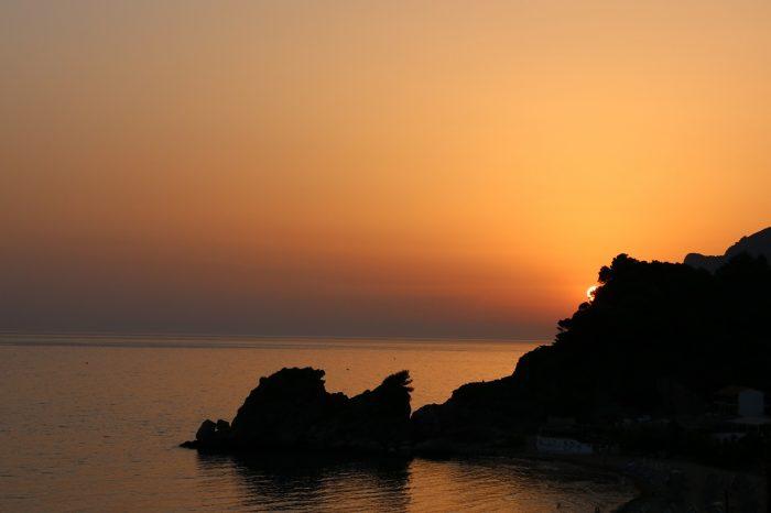 zachód słońca naKorfu