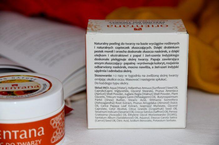 Peeling dotwarzy Orientana papaja iżeń-szeń indyjski skład