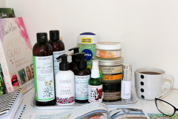 kosmetyki zużyte wsierpniu
