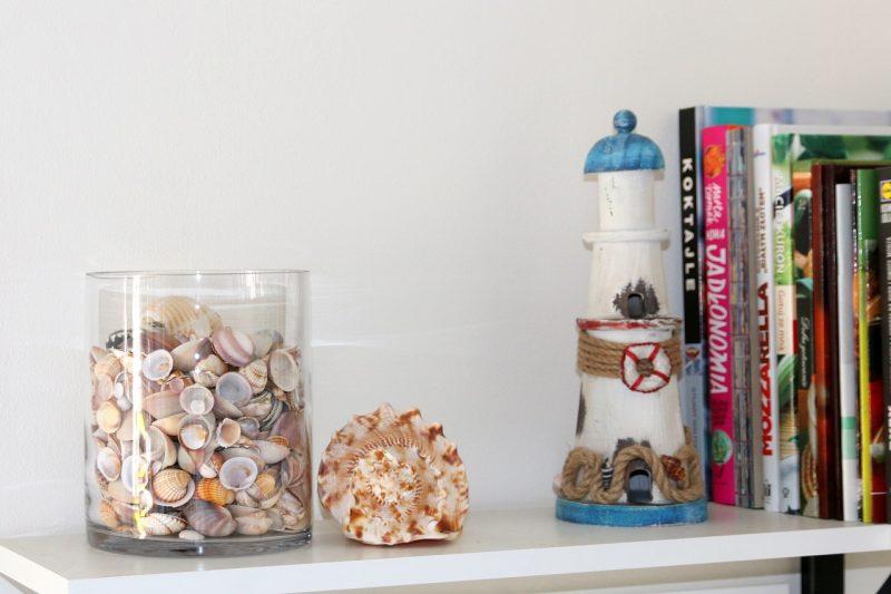 DIY świecznik z muszelek