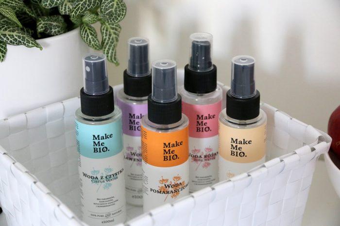 Make Me Bio: woda zczystka, woda różana, woda pomarańczowa, woda lawendowa, woda waniliowa