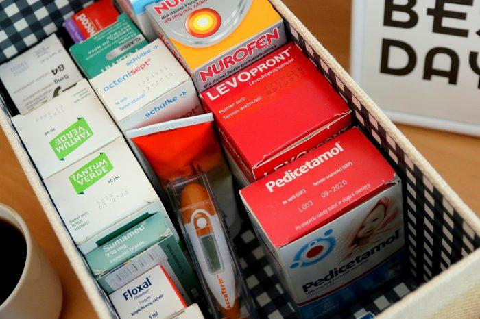 Pudełko leków dla dzieci