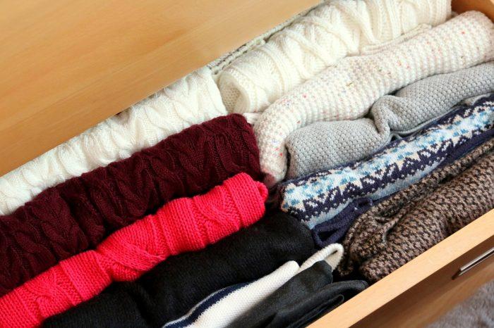 uporządkowana szuflada: swetry