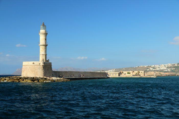 Kreta, latarnia morska Faros wChanii