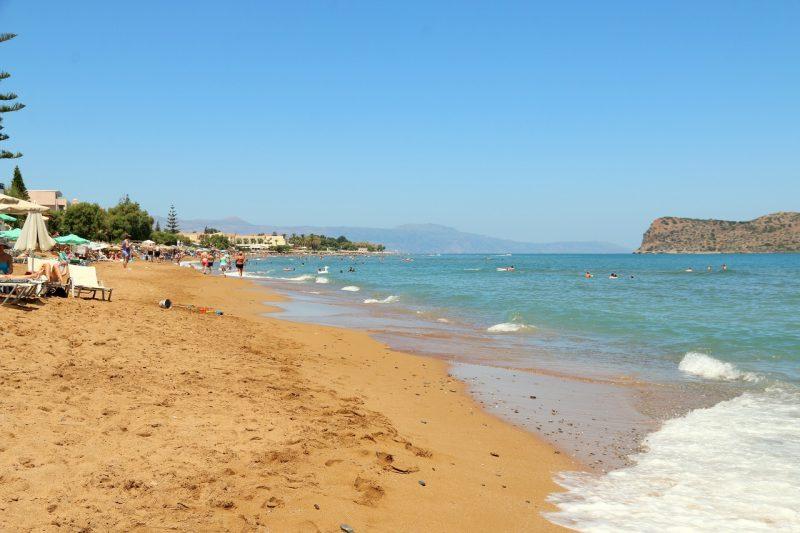Kreta, plaża w Stalos