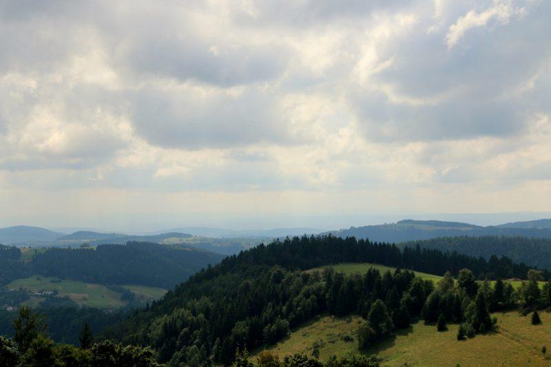 Góry Sowie, widok z Przełęczy Sokolej