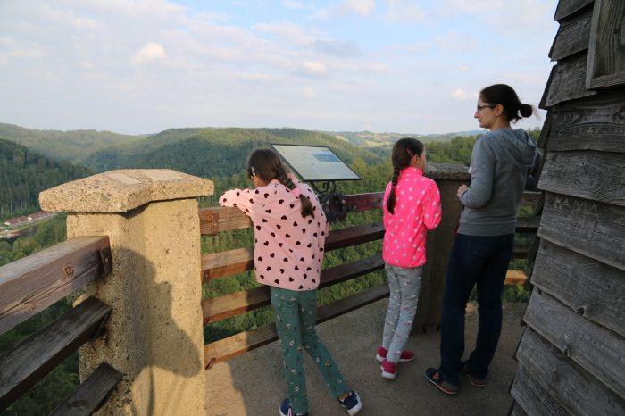 Zamek Grodno, wieża widokowa