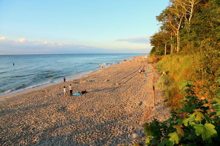 plaża podeszczu